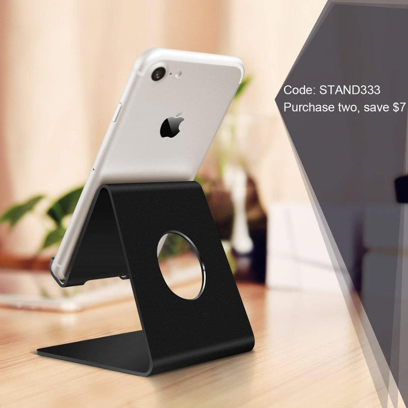Cell Phone Stand, Phone Dock: Cradle, Holder, Stand Compatible with Switch, All Android Smartphone, Phone XS Max XR 6 6s 7 8 X Plus 5 5s 5c Charging, Accessories Desk - Black