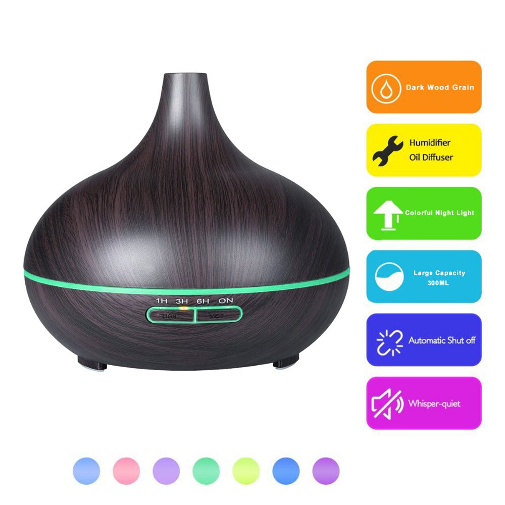 300ml Aroma Home Fragrance Diffuser, Oils Aromatherapy Aroma Diffuser, Mini Portable Humidifier Air Diffuser Aroma Mist Purifier