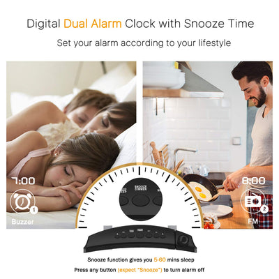 New Digital Projection Table Metal Wall Alarm Clock With LED Projector and Radio