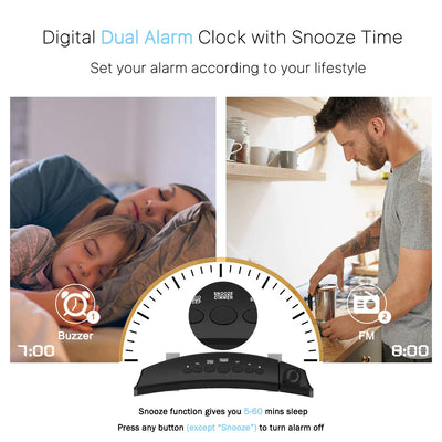 Digital Projection Alarm Clock Dual Alarm With USB Charging for Home, Bedroom, Kitchen, Apple Watch / Digital Light Projection Kids Alarm Clock With Projector