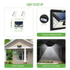 Solar Lights Outdoor Super-Bright 44 LED Motion Sensor 3 Modes Lighting Wireless Security Night Light for Garden Patio Backyard