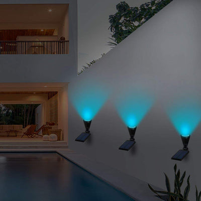 Copy of 2 Pack Solar Spot Lights 7 LED Outdoor Waterproof Garden Patio Yard Driveway Wall Tree Lawn Flower Beds Landscape Wireless Spotlight, Ground/Wall Mounted