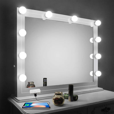 hollywood style 10 led light bulbs Vanity Mirror Lights Kit for Makeup Dressing vanity table with dimmable led string light