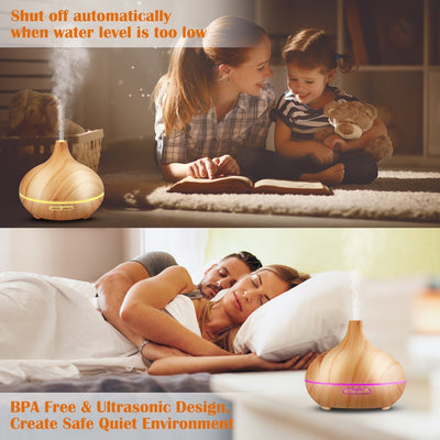 Aromatherapy Diffuser Cool Mist Humidifier Essential Oils, Cool Mist Humidifier Ultrasonic Aroma Essential Oil Diffuser humidifier air for Office Home Bedroom Living Room Study Yoga Spa
