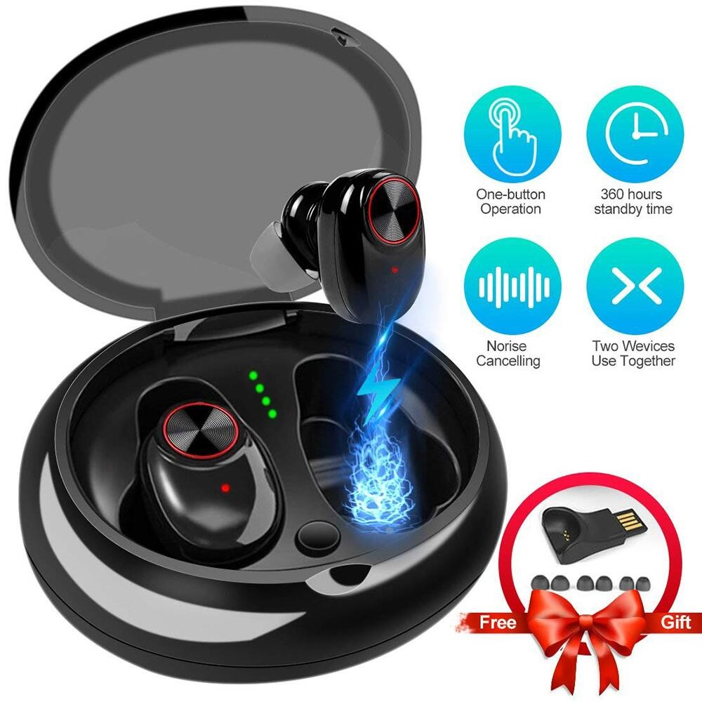 Blue tooth Earphone With V5.0+EDR Stereo Sound V5 Wireless Earphone Built-in Microphone Hands-free Calling Bluetooth TWS Earbuds