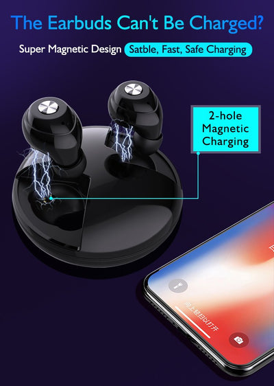 New Wireless Headphones Stereo Mobile phone Bluetooths headset 5.0 Mini Earphone In-ear TWS Earbuds
