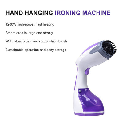 Handheld Garment Steamer, Portable Fabric Steamer, Fast Heating Up for Continuous Steam Output, Perfect for Home, Work, Travel and Business Trips, 1200W
