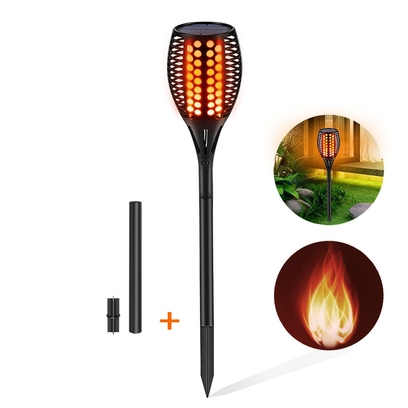 Solar Lights Upgraded, Waterproof Flickering Flames Torches Lights Outdoor Solar Spotlights Landscape Decoration Lighting Dusk  2-Pack