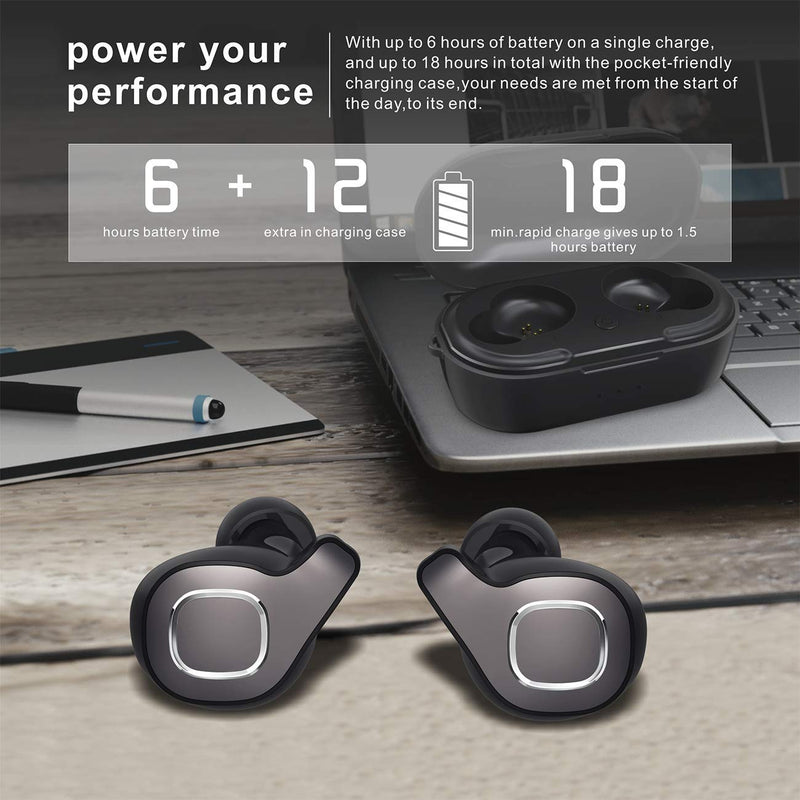 chipset silicone earphone case metal material sports bluetooth earphone ,TWS Wireless BT Earphone Twin STereo In Ear Style Wireless Earphone For Sports