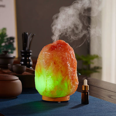 Office Mini-mute Air Humidifier Aromatherapy Machine Household Resin Salt Mine Essential Oil Aromatherapy Lamp diffuser