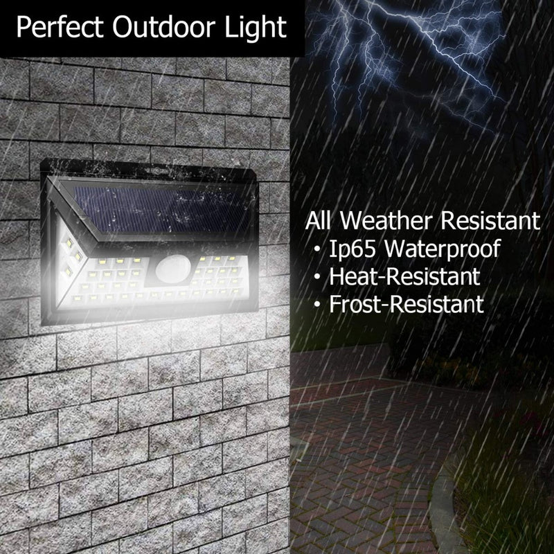 44LEDs Solar lamp PIR Motion Sensor Rechargeable Solar LED Solar Garden light Outdoor Street Patio Path Security Wall Lamp