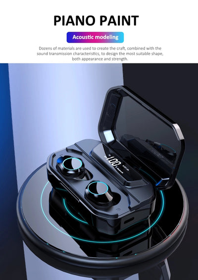 Wireless Power Bank Earphone original Over the ear Wireless headphone Trucker Voice Amplifier microphone Running Headset