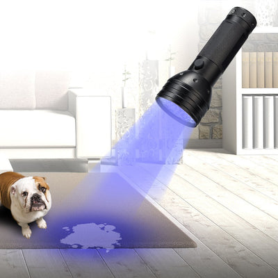UV Flashlight Black light UV Lights , 51 LED Ultraviolet Blacklight Pet Urine Detector For Dog/Cat Urine,Dry Stains,Bed Bug, Matching with Pet Odor Eliminator