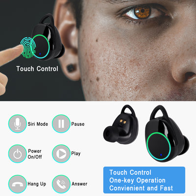 True Wireless Stereo cordless headphones 5.0 X6 Pro TWS Bluetooth 5.0 Headsets mini Wireless Smart Earbuds IPX7 waterproof Stereo Earphones earpieces with charging case