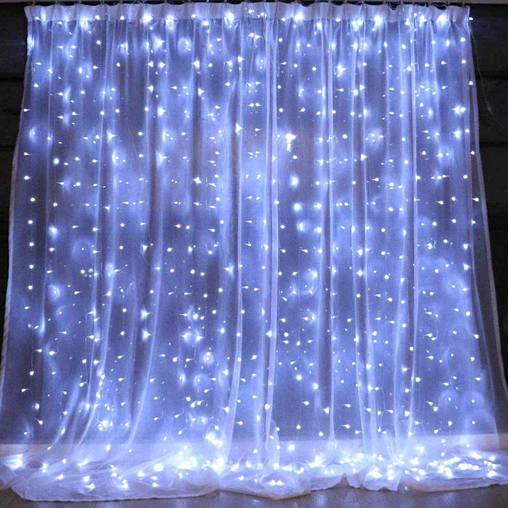 300LEDS 8 Modes Window Curtain Icicle led String Light For Wedding Party Bedroom Indoor Outdoor Decoration