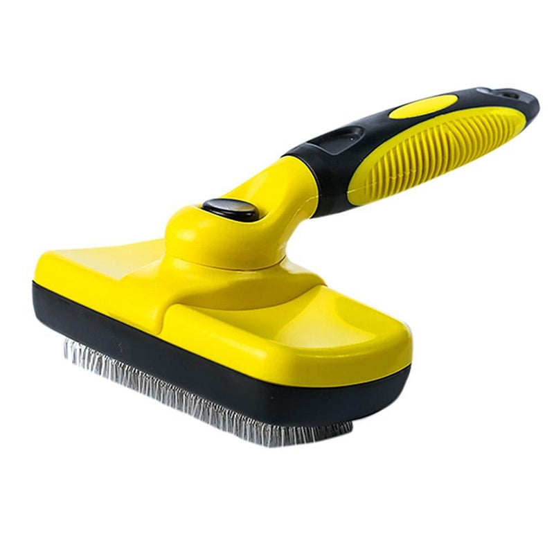 Professional Self Cleaning Slicker Brush for Pets (Dogs, Cats, Others), Rugs, and Others - Ergonomic Soft Grip Handle - Reduces Shedding and Eliminate Mats, Tangles and Hairballs