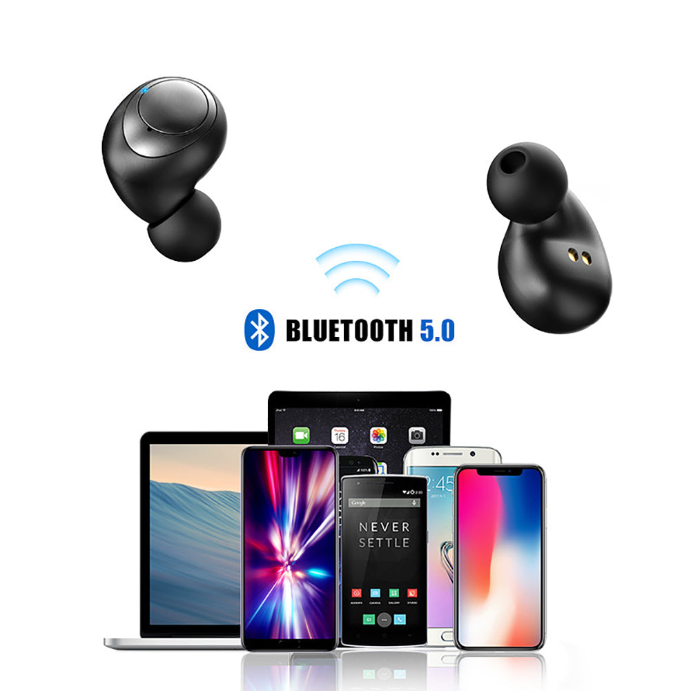Bluetooth Headphone Earbuds Wireless 5.0 Charging Compartment Sport Headset Stereo Geluid Earphone with HD Microphone