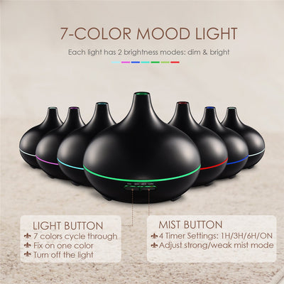 300ml Cool Mist Fragrance Wooden Grain Nebulizer Aroma Difusor Aromatherapy Humidifiers Ultrasonic Oil Diffuser For Aromatherapy