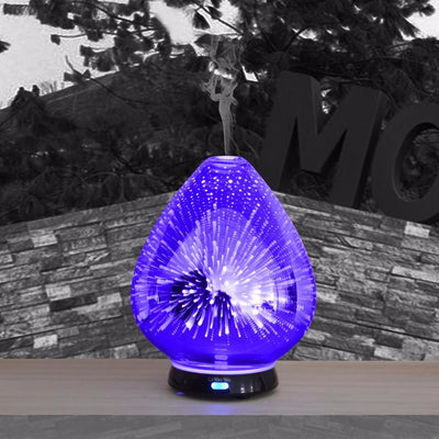 100ml Commercial 3d firework electric glass essential oils diffuser ultrasonic humidifier oils diffuser