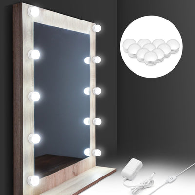 Hollywood DIY Vanity Lights Strip Kit for Lighted Makeup Dressing Table Mirror Plug in LED Lighting Fixture with Dimmer and Power Supply, 10 Light / 13.5 FT, Mirror Not Included