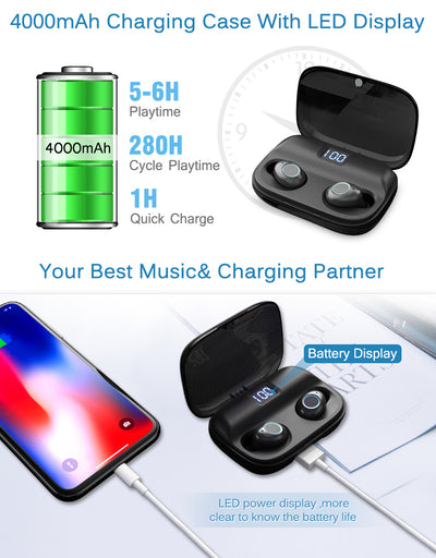 Bluetooth V5.0 Stereo Headphone Sport Boat Earphone Mini True Wireless Tws Earbuds For Iphone Samsung Xiaomi