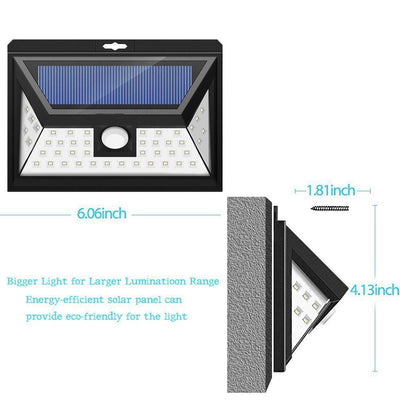 44 LED Solar Security light With 5 LEDs Both Side, 120 Degree Wide Angle Motion , Outdoor Waterproof solar light home
