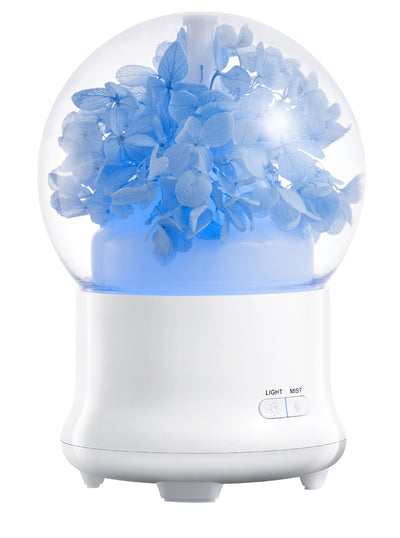 100ml 7 Colors LED light Ultrasonic Aroma Diffuser / 100ml Preserved Fresh Flower Essential Oil Aroma Diffuser Ultrasonic Humidifier with Changing Night light Beautiful Souvenir