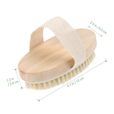 Hot Dry Skin Body Soft natural bristle the SPA the Brush Wooden Bath Shower Bristle Brush SPA Body Brush without Handle