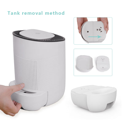 Dehumidifier 600ml Portable Mini Electric Dehumidifier Ultra Quiet Air Cleaner for Home, Kitchen, Garage, Wardrobe, Basement