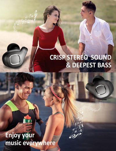 Mini Twins Wireless Casque TWS Earphone Blue tooth V5.0 Earbuds /  Wireless Bluetooth 5.0 Earbuds twins in-ear earbuds handsfree with Wireless Charging Case