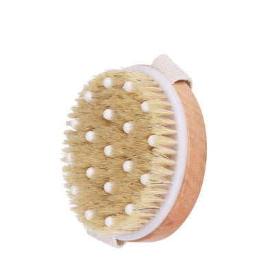 Dry Brushing Body Brush - for Dry Skin Brushing & Exfoliating with 100% Natural Boar Bristles