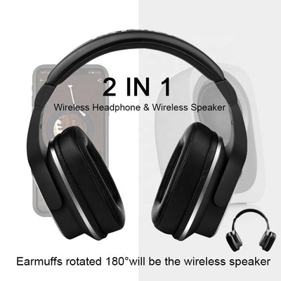 New Products High Quality S2 Wireless Bluetooths 5.0 Headphone stereo headset wholesale wireless speaker earphone 2 in 1
