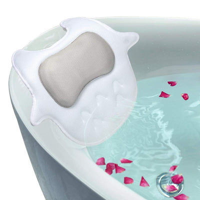 Owl Shape 5D Bath Pillow With Suction Cup  /Luxury Spa Bath Pillow Non-slip 5 Strong Suction Cups