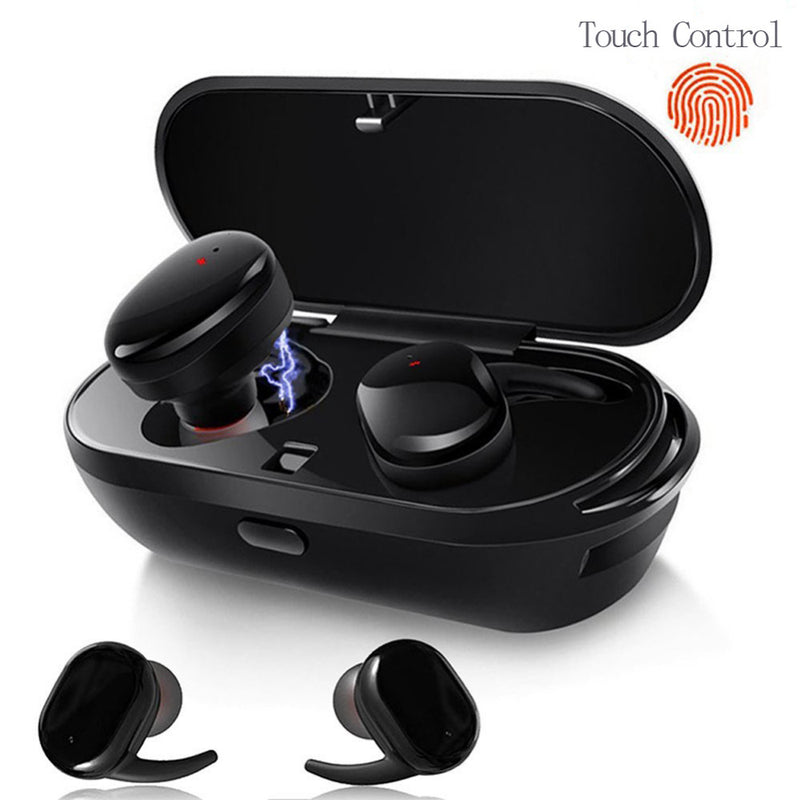 Wireless Headphones Stereo 5.0 Bluetooth Mini Earphone In-ear TWS Earbuds for Phone