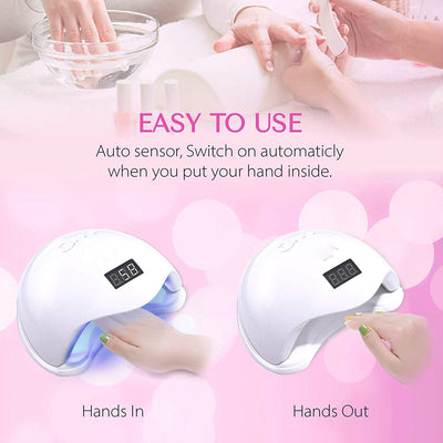 48W UV LED Nail Lamp Nail Dryer Gel Polish Curing Light with Bottom LCD display Infrared Sensor nail lamp with cooling fan