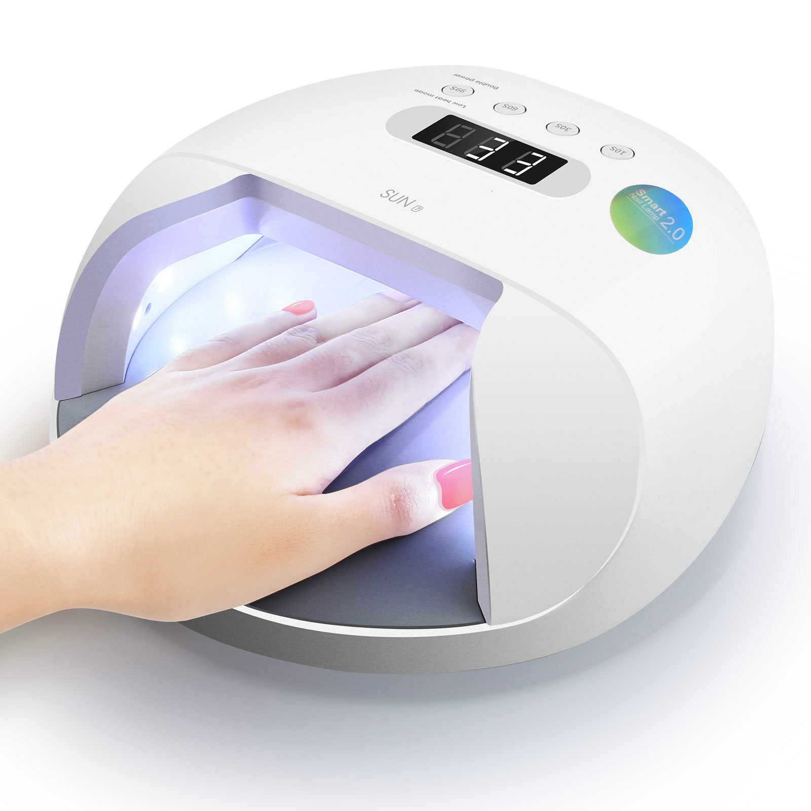 SUN7 48W UV Led Nail Lamp UV Light for Gel Nails with Double Power Design,4 Timer Setting, Lcd Display,Painless Curing,Over-Temperature Protection