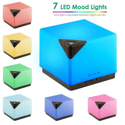 Ultrasonic Square 700ml Aromatherapy Essential Oil Diffuser Cool Mist Humidifier Strong Mist with 7 Colors Led Lights