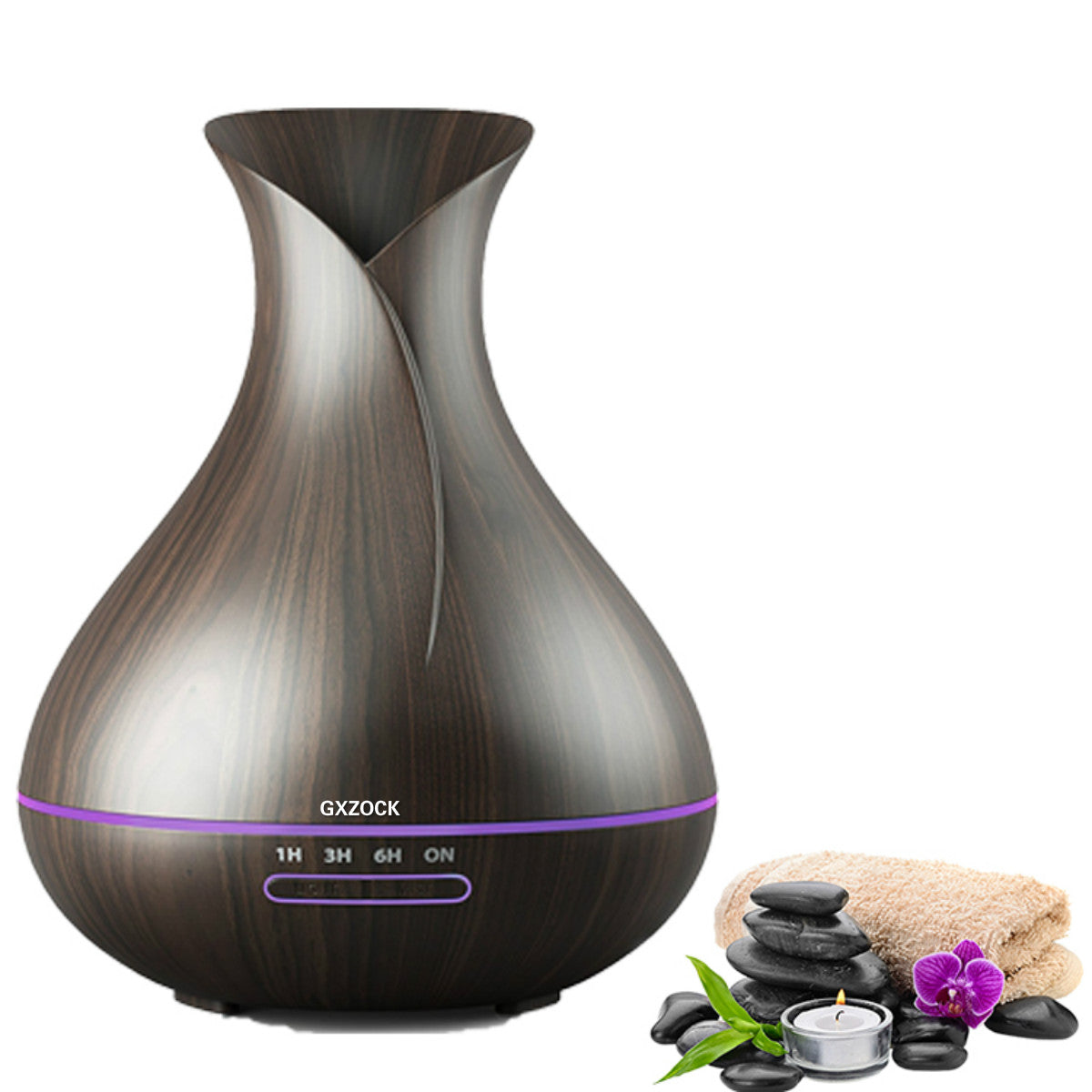 400ml Essential Oil Diffusers Ultrasonic Humidifier Portable Aromatherapy Diffuser with Cool Mist and 7 Colour Changing LED Lights