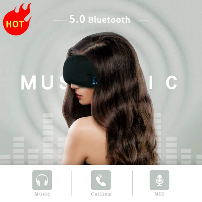 Wireless Smart Music Phone Breathable Custom Bluetooth Cotton 3d sleeping eye mask headphone