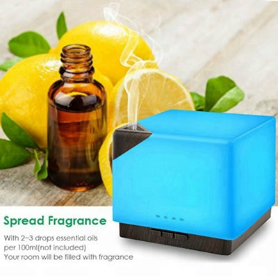 700ml Square Aromatherapy Essential Oil Diffuser Humidifier Large Capacity Modern Ultrasonic Aroma Diffusers for Home