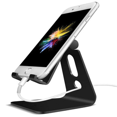 Adjustable Cell Phone Stand, Phone Stand : [UPDATE VERSION] Cradle, Dock, Holder Compatible with iPhone Xs XR 8 X 7 6 6s Plus SE 5 5s 5c charging, Accessories Desk, Android Smartphone