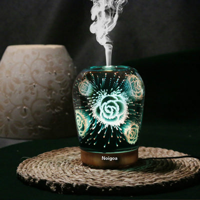 Great Gift - 100ML Ultrasonic Aromatherapy Essential Oil Diffuser ,Home Furnishing Decoration Luminous Magic Lingt 3D Aromatherapy Humidifier