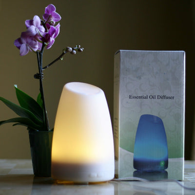 Aromatherapy Essential Oil Diffuser by appreciis - Best Electric Ultrasonic Diffuser for Your Scented Oils (Eucalyptus, Lavender, etc.)Best Candle Burner Replacement - Your Purchase Supports Charity -(White)
