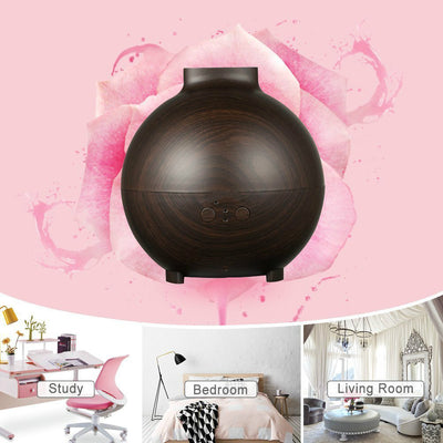 600ml Ultrasonic Oil Diffuser, High Capacity Globe Diffuser, Premium Therapy Air Freshener, Working Overnight for Large Room
