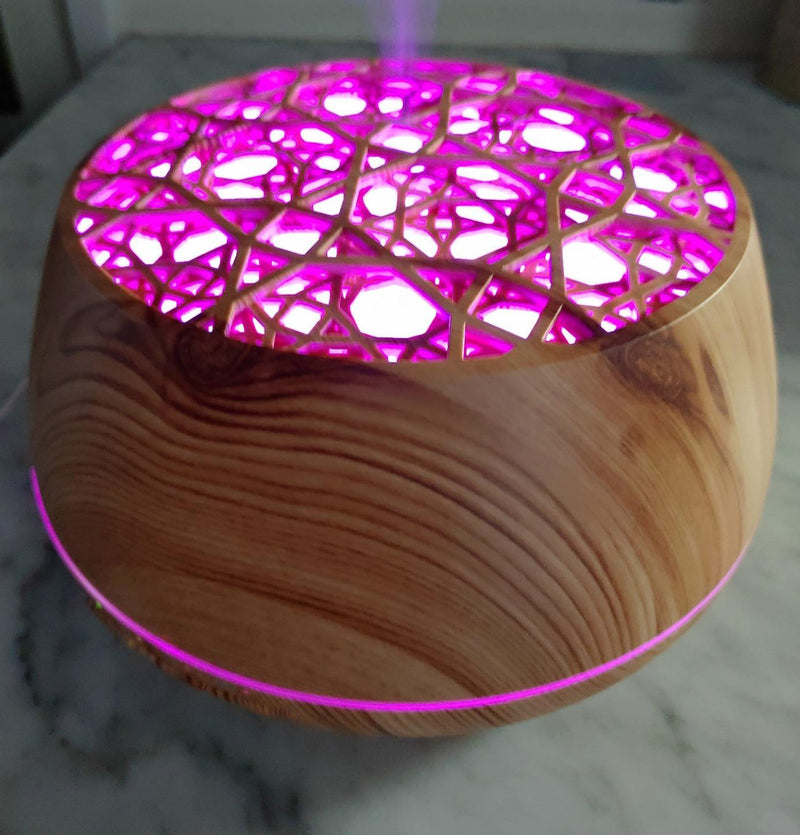 Essential Oil Diffuser , 400ml Aroma diffuser, Bluetooth speaker and gorgeous lamp in one! 8 Colors LED Lights Auto Shut-off,Cool Mist Ultrasonic Humidifier