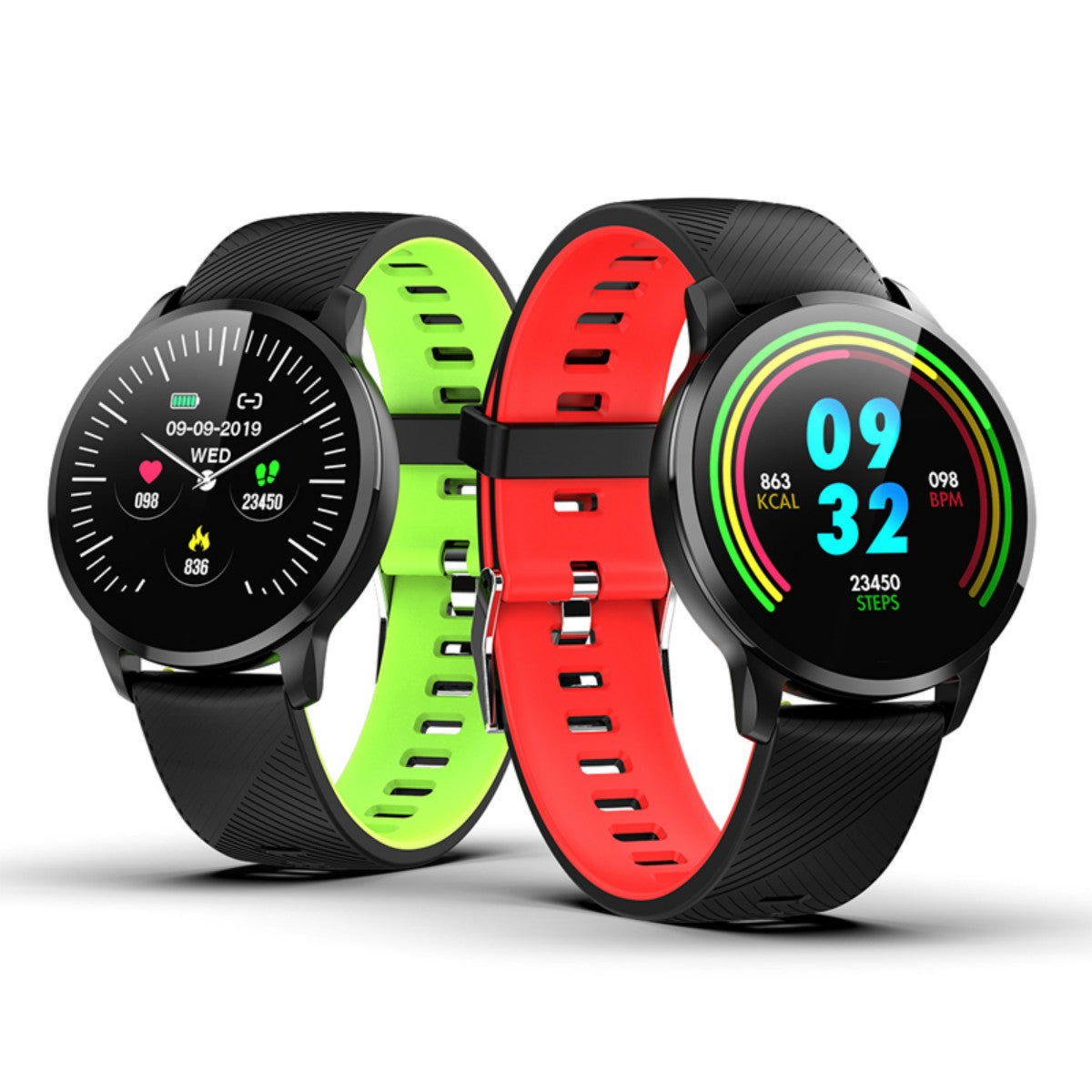 New spherical full circle display Bluetooth smart watch with touch screen blood pressure blood oxygen multi-sport fitness