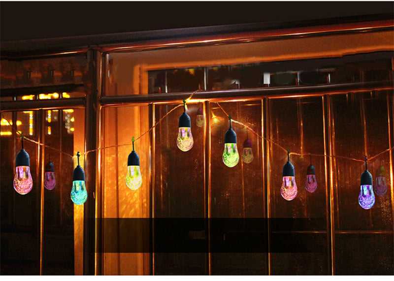 quality led solar 12 Bulbs Raindrop string lights outdoor fairy light for Wedding Party Bedroom Christmas Garden