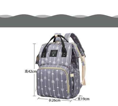 new style Custom high quality canvas diaper bag with baby change