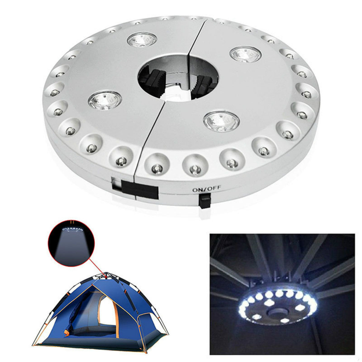 Upgraded Patio Umbrella Light 3 Lighting Modes 28 LED Lights at 200 Lumens - 4 x AA Battery Operated, Umbrella Pole Light Camping Lights for Umbrellas,Camping Tents or Outdoor Use