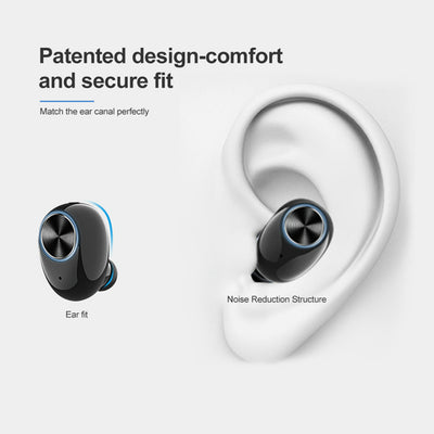 High Quality Mini Stereo BT V5.0 Realtek In-ear Sport TWS Wireless Headphone Earbud Bluetooth 5.0 Wireless Sport Headset with Magnetic Charging Case Built-in Mic